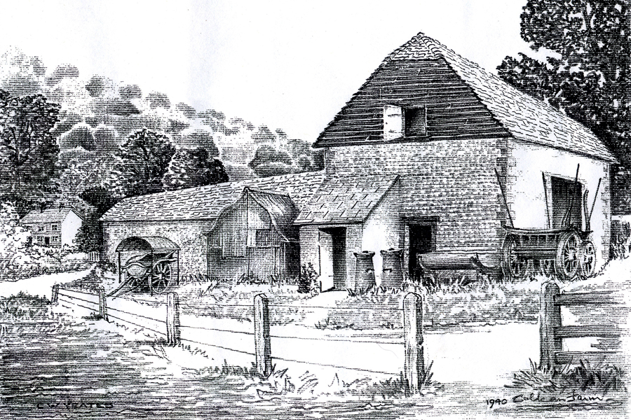 1940 drawing of Coldean Farm