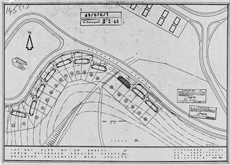 June 1949 Layout plan for 20 houses Brighton ex-servicemens society
